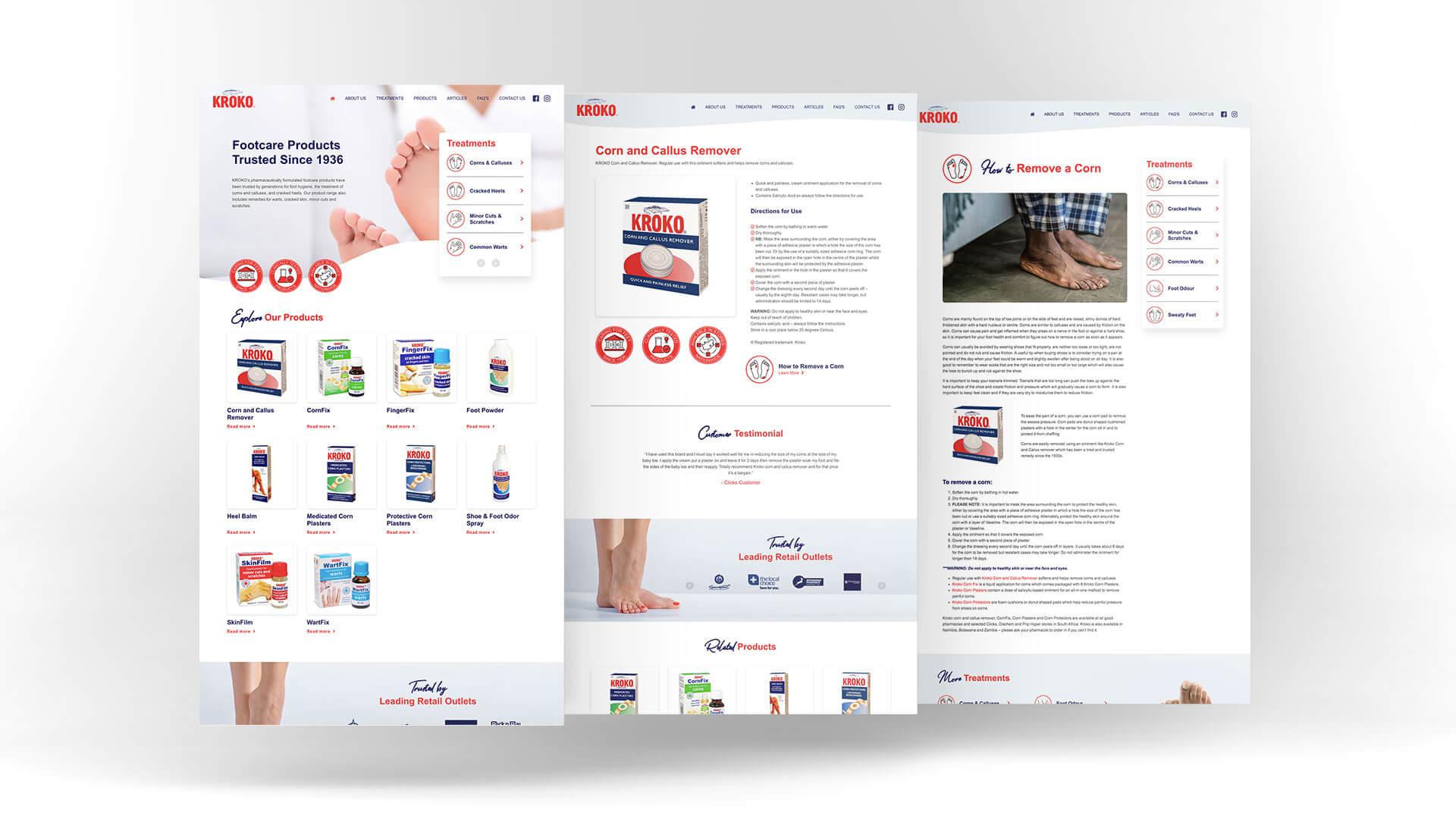 Kroko Website Design